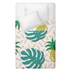 Green Leaf Fruite Pineapples Duvet Cover Double Side (single Size)