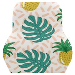 Green Leaf Fruite Pineapples Car Seat Back Cushion  by AnjaniArt