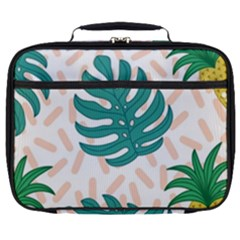 Green Leaf Fruite Pineapples Full Print Lunch Bag