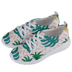 Green Leaf Fruite Pineapples Women s Lightweight Sports Shoes by AnjaniArt