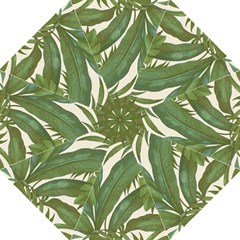 Green Palm Leaf Wallpaper Straight Umbrellas