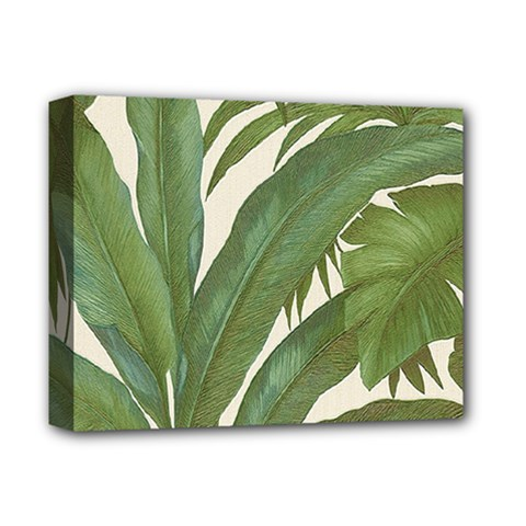 Green Palm Leaf Wallpaper Deluxe Canvas 14  X 11  (stretched) by AnjaniArt
