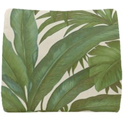 Green Palm Leaf Wallpaper Seat Cushion by AnjaniArt