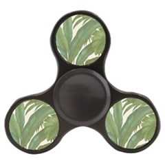 Green Palm Leaf Wallpaper Finger Spinner by AnjaniArt
