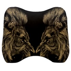 King Abstract Lion Painting Velour Head Support Cushion