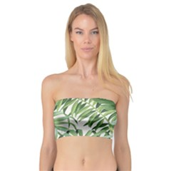 Green Palm Leaf Wallpaper Alfresco Palm Leaf Wallpaper Bandeau Top by AnjaniArt