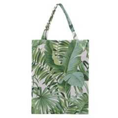 Green Palm Leaf Wallpaper Alfresco Palm Leaf Wallpaper Classic Tote Bag by AnjaniArt