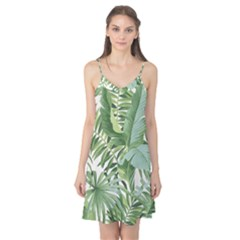 Green Palm Leaf Wallpaper Alfresco Palm Leaf Wallpaper Camis Nightgown by AnjaniArt