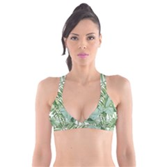 Green Palm Leaf Wallpaper Alfresco Palm Leaf Wallpaper Plunge Bikini Top by AnjaniArt