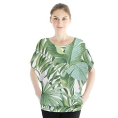 Green Palm Leaf Wallpaper Alfresco Palm Leaf Wallpaper Blouse
