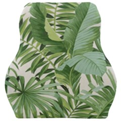 Green Palm Leaf Wallpaper Alfresco Palm Leaf Wallpaper Car Seat Velour Cushion  by AnjaniArt
