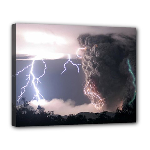 Lighting Flash Fire Wallpapers Canvas 14  X 11  (stretched) by AnjaniArt