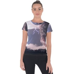 Lighting Flash Fire Wallpapers Short Sleeve Sports Top