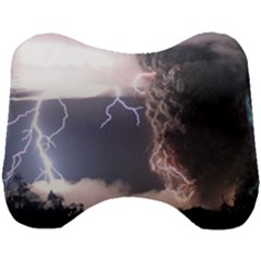 Lighting Flash Fire Wallpapers Head Support Cushion by AnjaniArt
