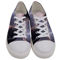 Lighting Flash Fire Wallpapers Women s Low Top Canvas Sneakers