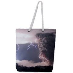Lighting Flash Fire Wallpapers Full Print Rope Handle Tote (large) by AnjaniArt