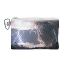 Lighting Flash Fire Wallpapers Canvas Cosmetic Bag (medium) by AnjaniArt