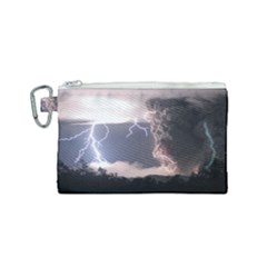Lighting Flash Fire Wallpapers Canvas Cosmetic Bag (small) by AnjaniArt