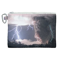 Lighting Flash Fire Wallpapers Canvas Cosmetic Bag (xl) by AnjaniArt