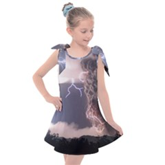 Lighting Flash Fire Wallpapers Kids  Tie Up Tunic Dress