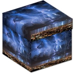 Lighting Flash Fire Wallpapers Night City Town Meteor Storage Stool 12