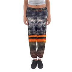 Lighting Strom Summer Star Sunset Sunrise Women s Jogger Sweatpants by AnjaniArt