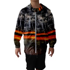 Lighting Strom Summer Star Sunset Sunrise Hooded Windbreaker (kids) by AnjaniArt