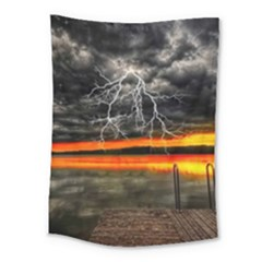 Lighting Strom Summer Star Sunset Sunrise Medium Tapestry by AnjaniArt