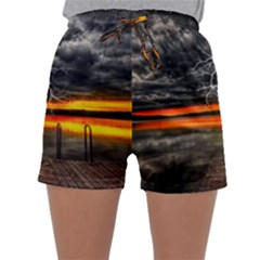 Lighting Strom Summer Star Sunset Sunrise Sleepwear Shorts by AnjaniArt