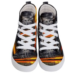 Lighting Strom Summer Star Sunset Sunrise Kid s Hi Top Skate Sneakers