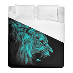 King Lion Wallpaper Jungle Duvet Cover (full/ Double Size) by AnjaniArt
