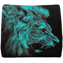King Lion Wallpaper Jungle Seat Cushion by AnjaniArt