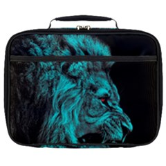 King Lion Wallpaper Jungle Full Print Lunch Bag by AnjaniArt