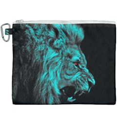 King Lion Wallpaper Jungle Canvas Cosmetic Bag (xxxl) by AnjaniArt
