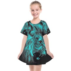 King Lion Wallpaper Jungle Kids  Smock Dress