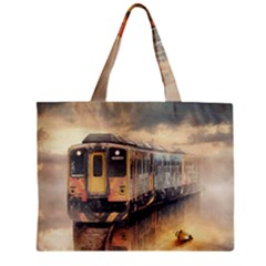 Manipulation Ghost Train Painting Mini Tote Bag