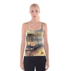 Manipulation Ghost Train Painting Spaghetti Strap Top
