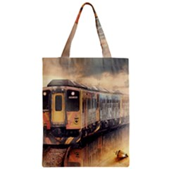 Manipulation Ghost Train Painting Zipper Classic Tote Bag