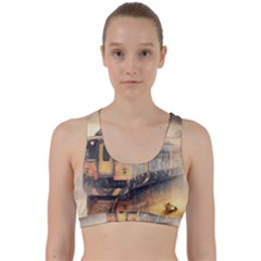 Manipulation Ghost Train Painting Back Weave Sports Bra