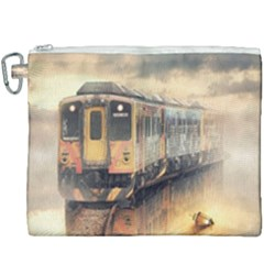 Manipulation Ghost Train Painting Canvas Cosmetic Bag (xxxl) by AnjaniArt