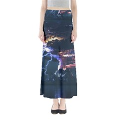 Lightning Volcano Manipulation Volcanic Eruption Full Length Maxi Skirt