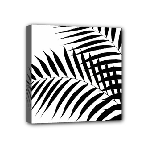 Palm Leaves Mini Canvas 4  X 4  (stretched)