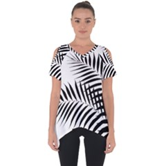 Palm Leaves Cut Out Side Drop Tee