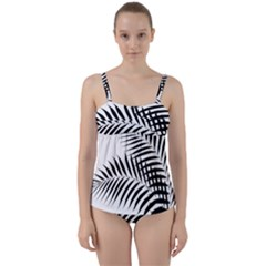Palm Leaves Twist Front Tankini Set by AnjaniArt