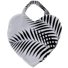 Palm Leaves Giant Heart Shaped Tote