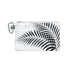 Palm Leaves Canvas Cosmetic Bag (small) by AnjaniArt