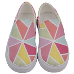 Star Triangle Rainbow Geometric Line Men s Canvas Slip Ons