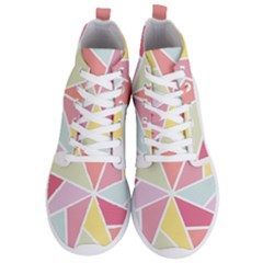 Star Triangle Rainbow Geometric Line Men s Lightweight High Top Sneakers by AnjaniArt