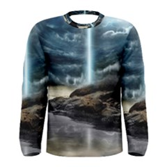 Space Galaxy Hole Men s Long Sleeve Tee
