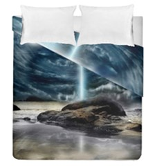 Space Galaxy Hole Duvet Cover Double Side (queen Size)